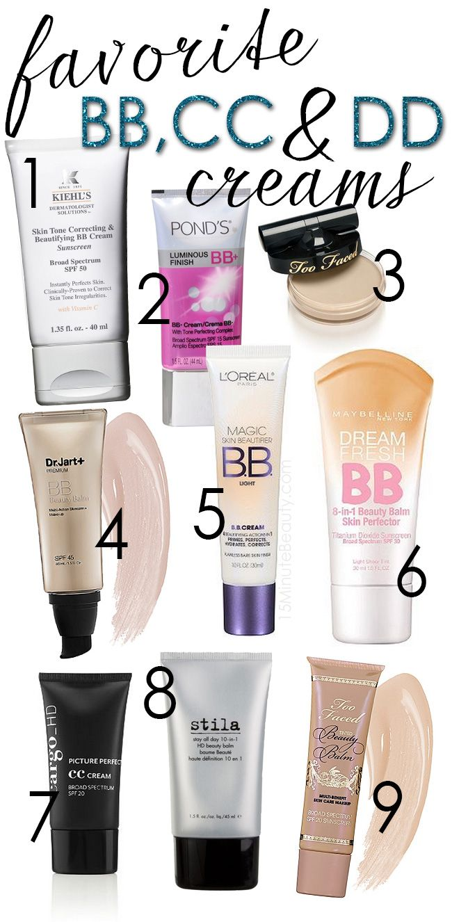 The best BB and CC Creams!  This post compares what active ingredients and even what sunscreens they have in them.  Pin now and read later!