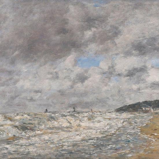 Eugène Boudin  DEAUVILLE, LE RIVAGE PAR GROS TEMPS