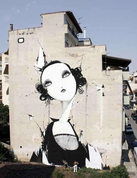 Alexandros Vasmulakis' Grandiose Graffiti #graffiti trendhunter.com