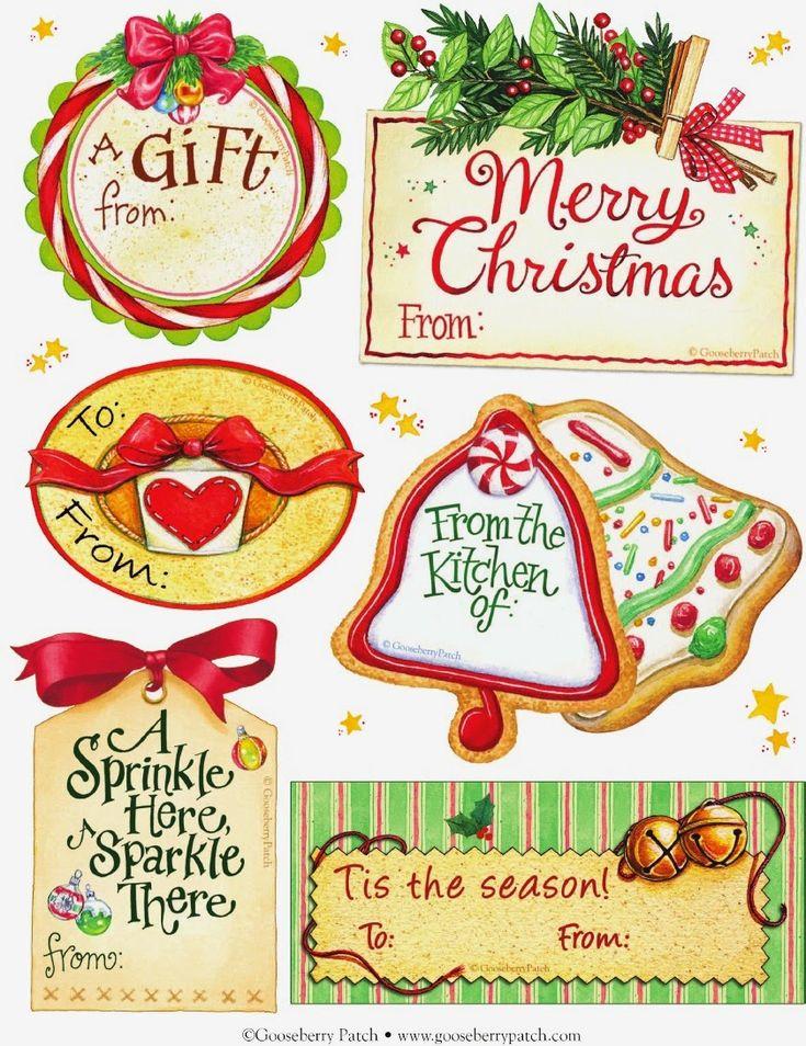 The art of creating: free Christmas tags