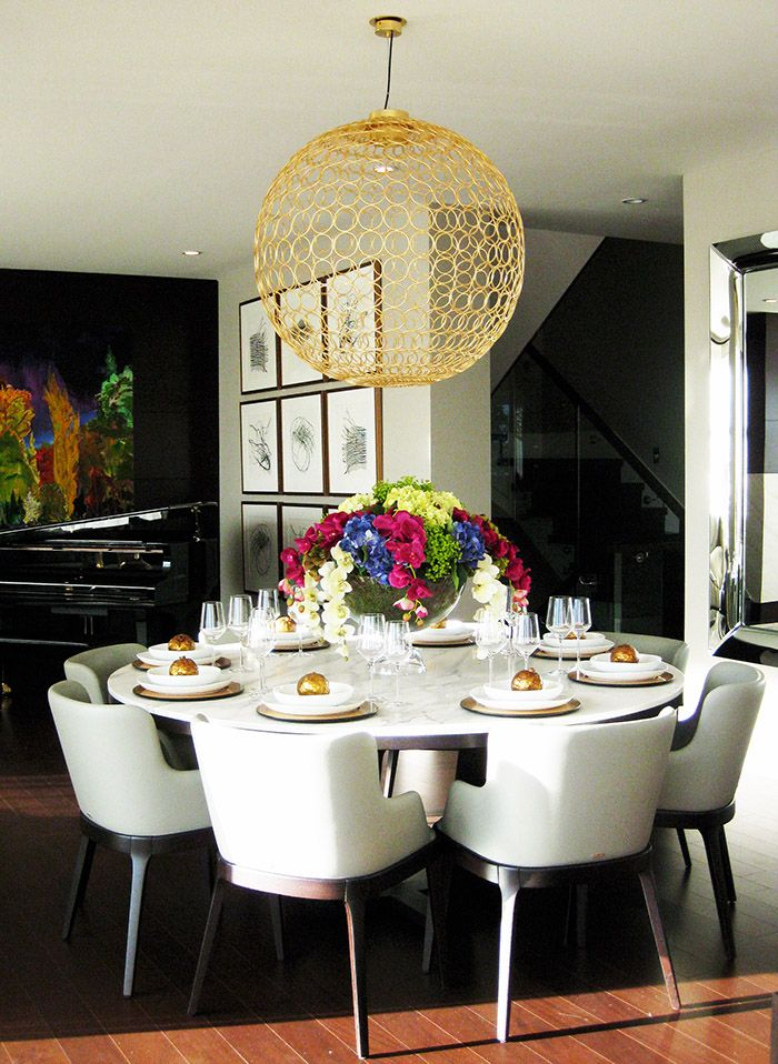 Insight design brings art deco glam to west van home dining tabledining roomspinterest boardlight