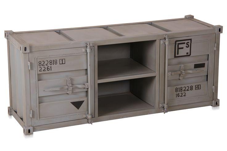 industrial m bel tv kommode container look vintage farben tv kommode container und kommode. Black Bedroom Furniture Sets. Home Design Ideas