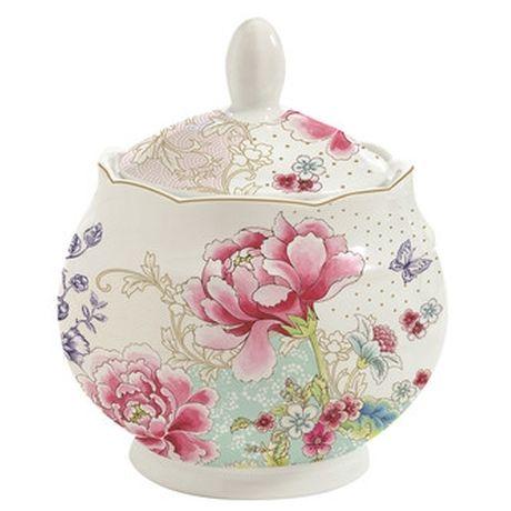 Cukiernica Beautiful Garden. Piękna, oryginalna cukiernica porcelanowa z kolekcji Chinoiserie.  Produkt włoski.