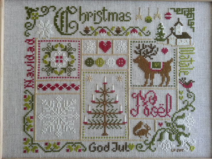 1248 best cross stitch christmas images on pinterest for Jardin prive