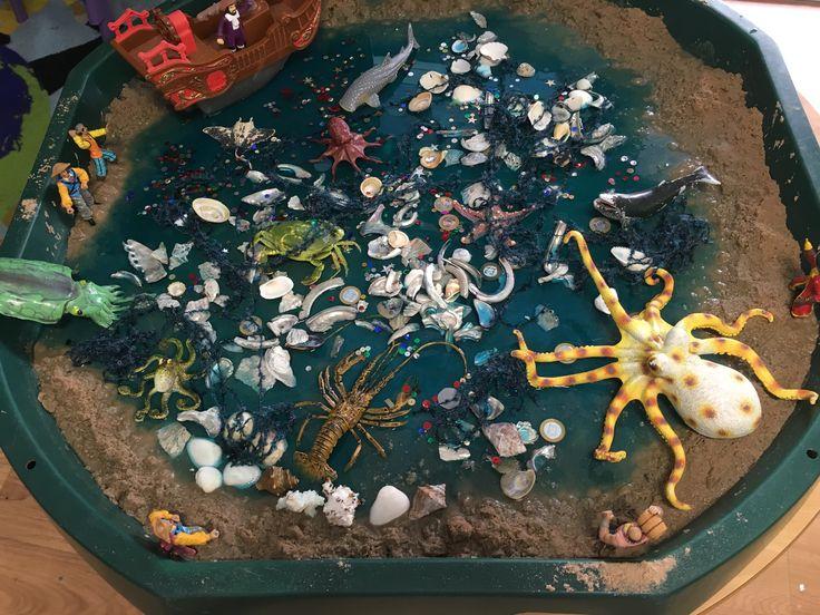 Pirate small world tuff tray.