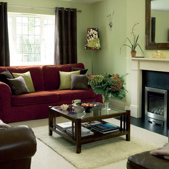 green color for home decorating with peaceful and pleasant on color schemes for living room id=48531