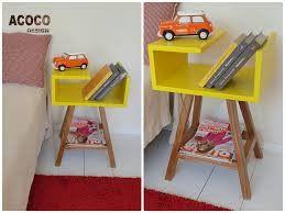 żółty stolik nocny lub kawowy Stolik AA - acoco-style - Szafki nocne