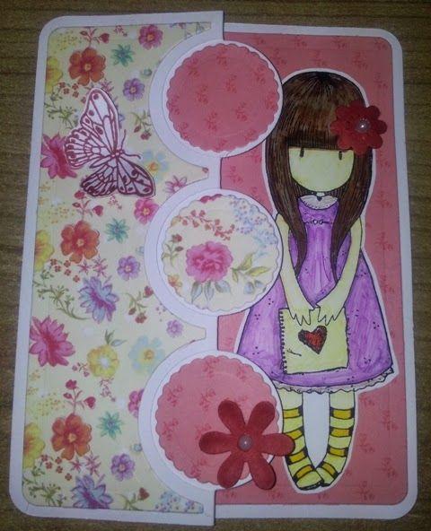 BellesCreations.gr: Heart Girl card