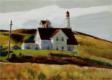 Edward hopper hill and houses cape elizabeth maine places pinterest e - Edward hopper maison ...