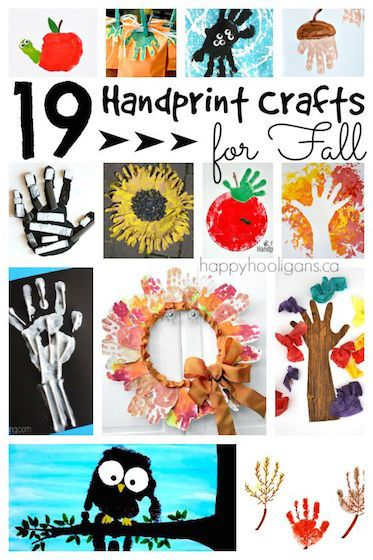 19 Adorable Handprint Crafts for Fall - Super-cute and easy handprint crafts for preschoolers and toddlers. This collection covers fall trees and leaves, halloween, thanksgiving and remembrance day. - Happy Hooligans