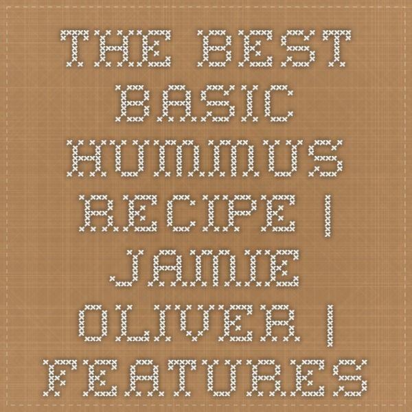 The best basic hummus recipe | Jamie Oliver | Features