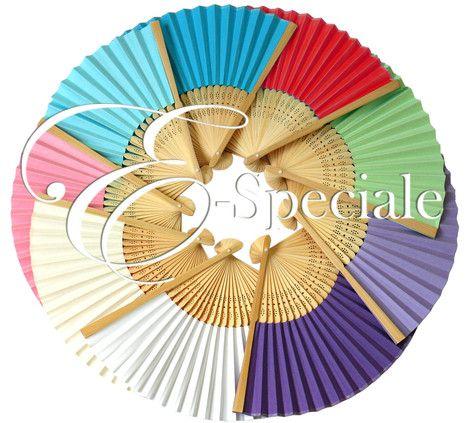 E-speciale Ventaglio di Legno - New - Prodotti per Articoli Personalizzabili - Barattoli - accessori e gadget per matrimoni e feste - E-speciale