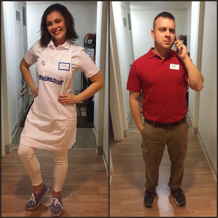 Quick DIY Couples Costumes. #diy #halloween #flo #jake