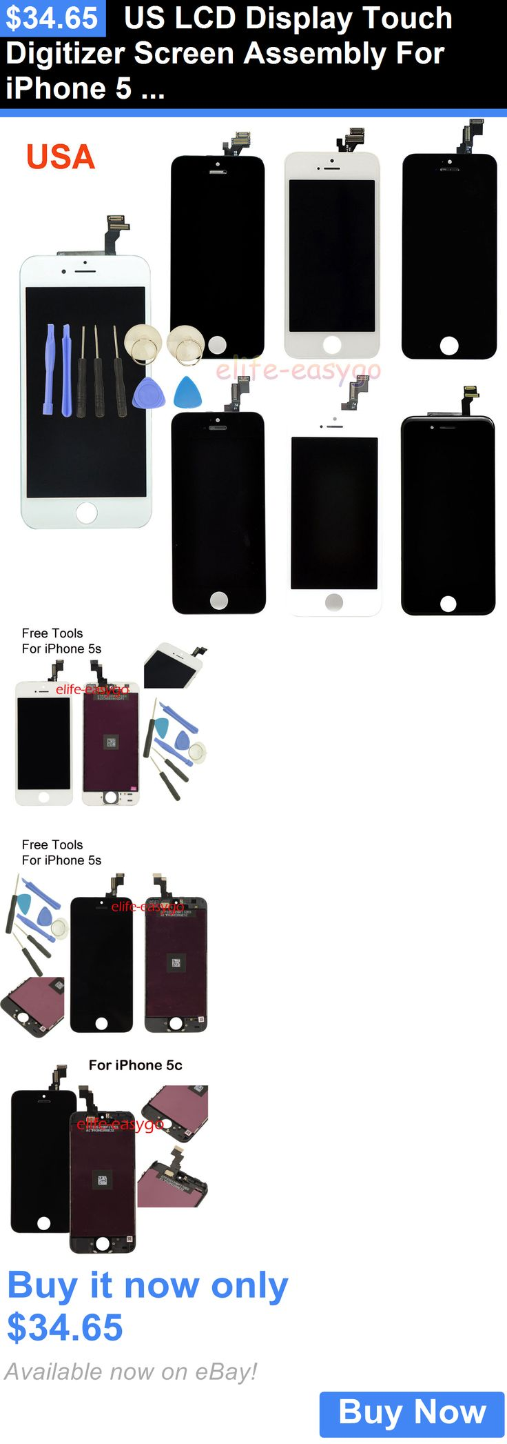 general for sale: Us Lcd Display Touch Digitizer Screen Assembly For Iphone 5 5S 5C 6 4.7+Tools BUY IT NOW ONLY: $34.65