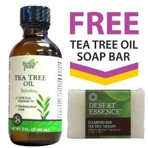 100% Australian Tea Tree Oil + FREE Tea Tree Oil Soap Bars by Herbal Authority. $15.47. Perfectly Pure 100% Australian Tea Tree Oil - 2 oz.. FREE Desert Essence Tea Tree Oil Soap - 3.5 oz Large Size Bar. Pharmaceutical Grade. 100% Australian Tea Tree Oil. Introducing  Perfectly Pure Tea Tree Oil. The  same pure, refreshing Tea Tree Oil you enjoyed with Herbal Authority  only with a new name. Perfectly Pure® Tea Tree Oil is 100% pure  Australian oil, culled fr...