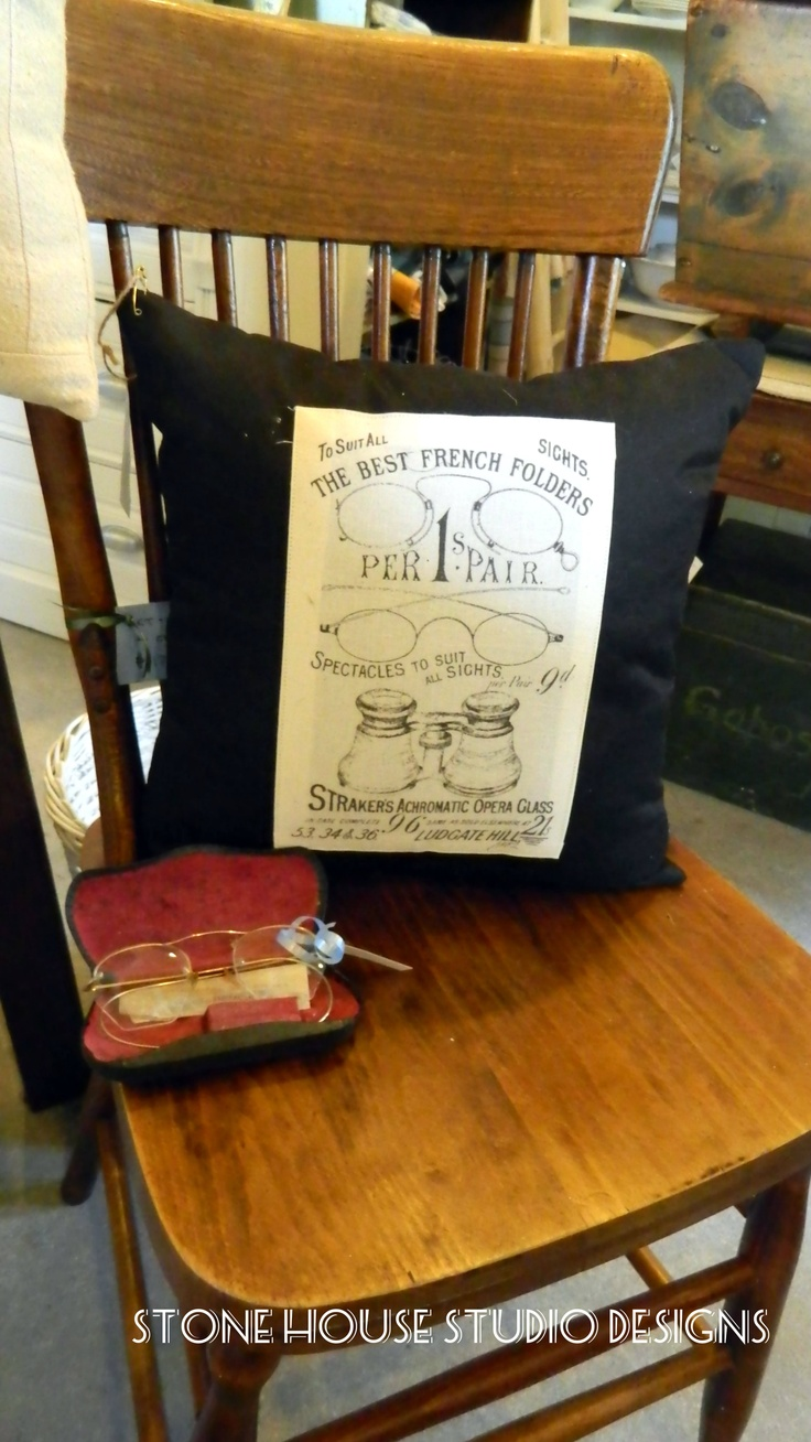 Cushions by Stone House Studio Designs. Available at Cynthia Crawford Antiques - Rosseau