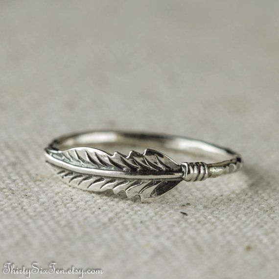 Feather Ring Sterling Silver Stacking