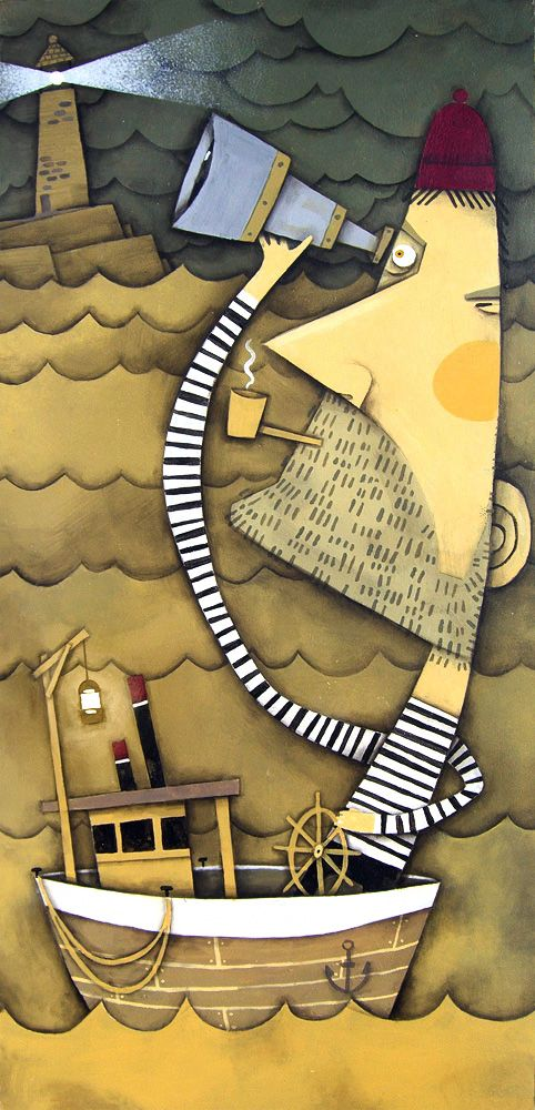 lighthouse by André Jolicoeur I absolutely love the depth and texture in this