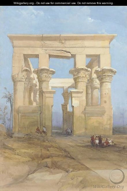The Hypaethral temple, Philae, Egypt - David Roberts