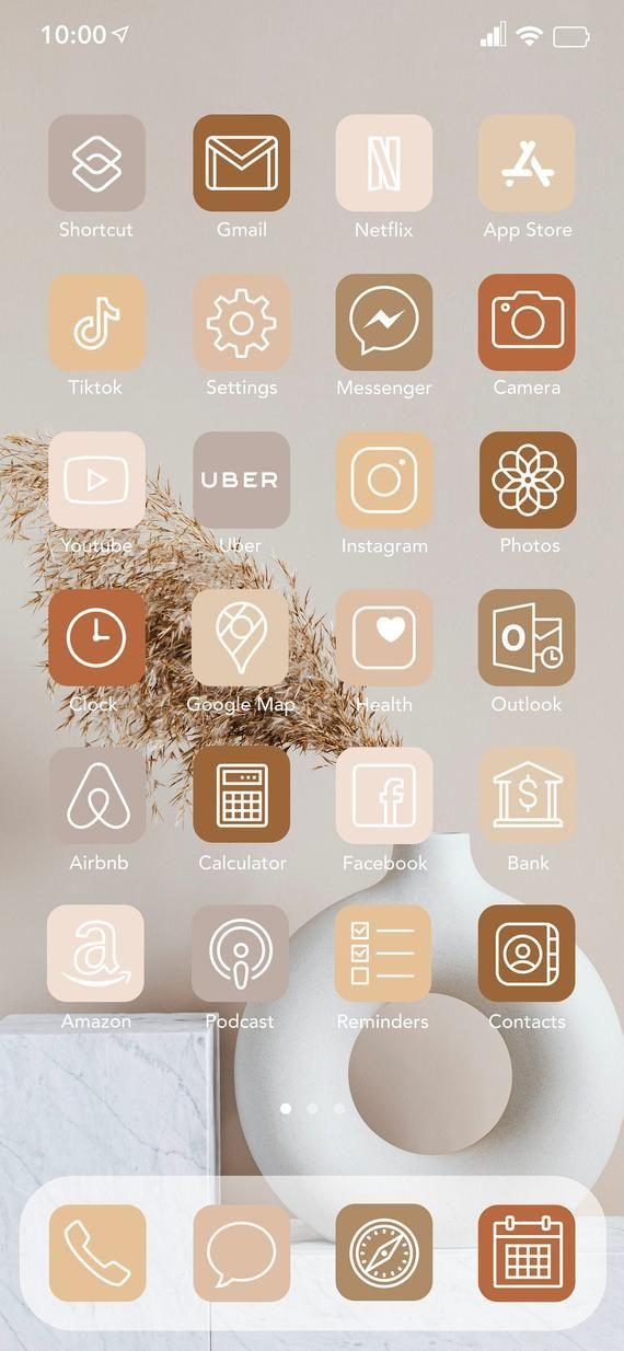 51 Boho Neutral App Icon Pack Ready For Download For Your Ios 14 Devices Digital Icons Includes Fondo De Pantalla De Aplicaciones Icono De Aplicacion Iphones
