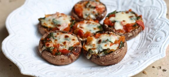 Portobello Mushroom Pizzas by Plant Based on a Budget