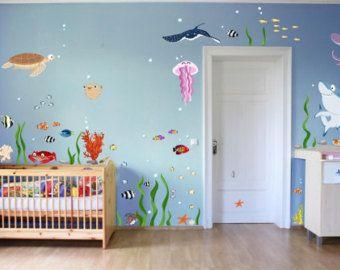 Fancy Wall decal Underwater World XXL Baby nursery marine animals