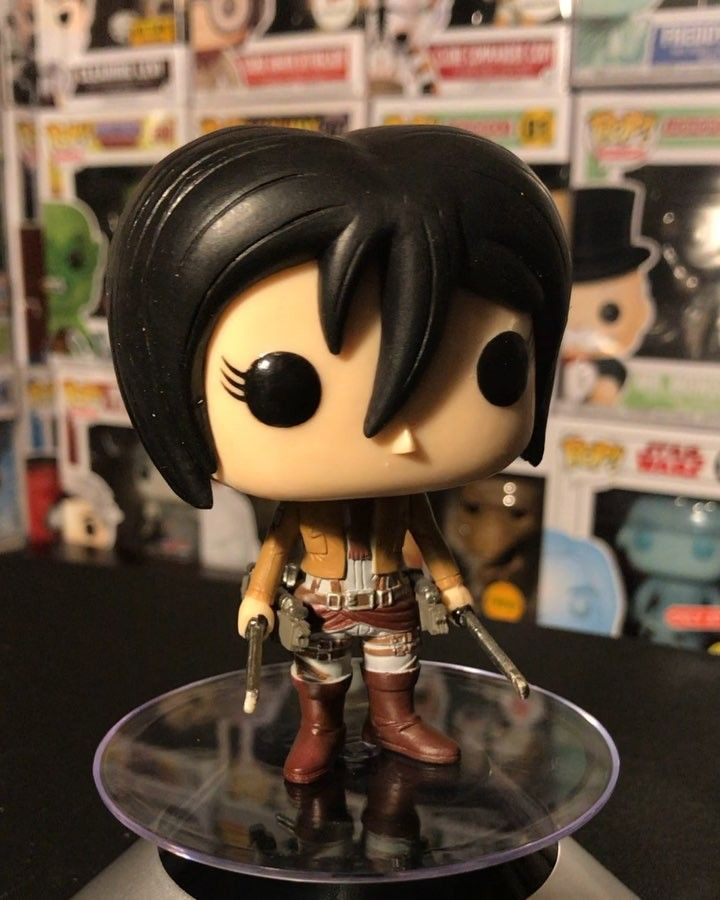 Mikasa Ackerman (ミカサアッカーマン Mikasa Akkāman?) is the adoptive sister of Eren Yeager and one of the two deuteragonists of the series. After her biological parents were murdered by human traffickers she was rescued by Eren and lived with him and his parents Grisha and Carla before the fall of Wall Maria.  Though she desires only to live a peaceful life with Eren Mikasa chose to follow him into the military  where she is considered the best soldier among the 104th Training Corps. She later…