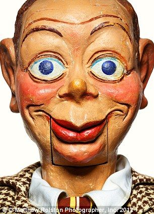Welcome to your worst nightmare! Creepy faces of ventriloquist dummies over the…