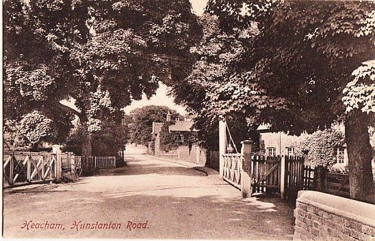 HEACHAM ( Norfolk): Hunstanton Road inc railway crossing-FRITH | eBay