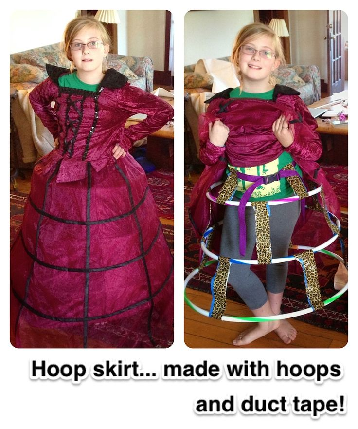 how to make your own hoop skirt