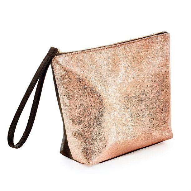 Arany-fekete kozmetikai táska
