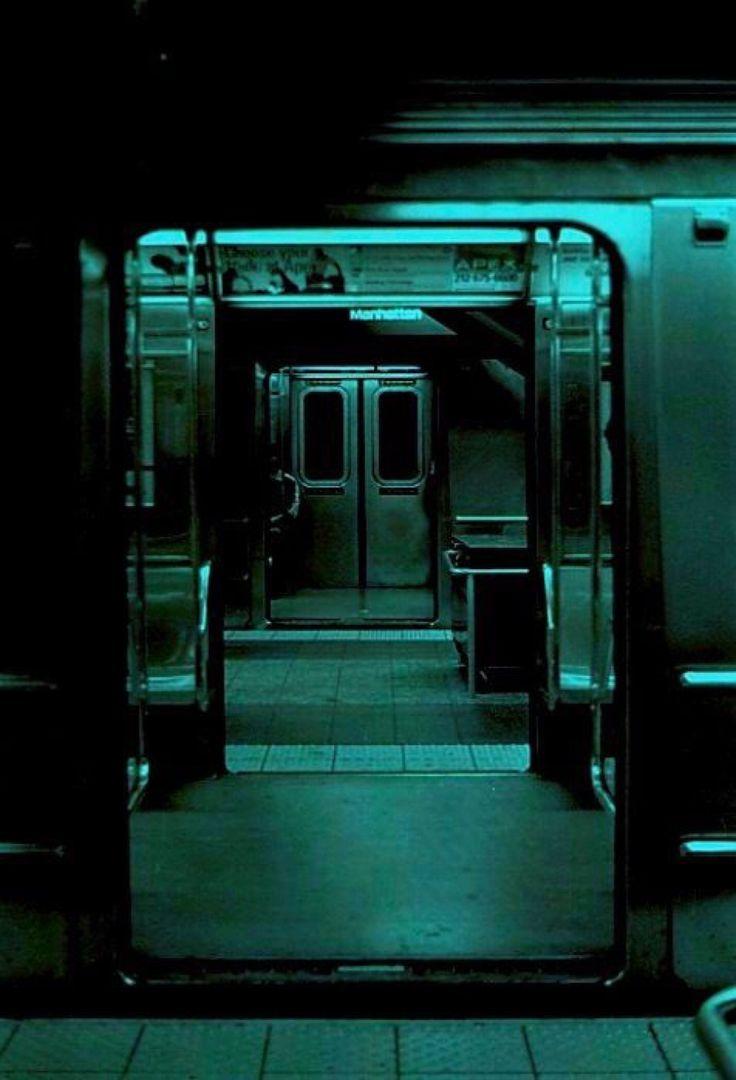 Abandoned metro cars