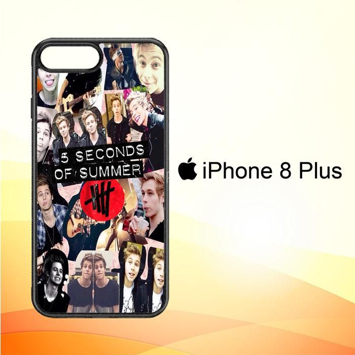 5 seconds of summer 5sos collage luke hemmings V1355 iPhone 8 Plus Case