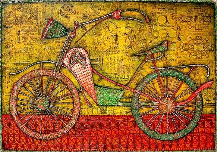 Bike von Wlad Safronow. Oil on Canvas.