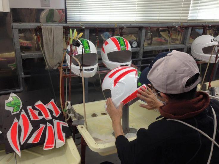 Arai Helmet Sticker Application Beginning The Wrap