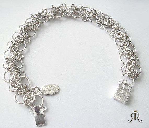 Sterling silver stud leaves tennis bracelet - Hand-woven, Bridal  Jewelry. A gift made by hand $172. https://www.etsy.com/ca/listing/198917789/sterling-silver-stud-leaves-tennis?ref=listing-shop-header-1