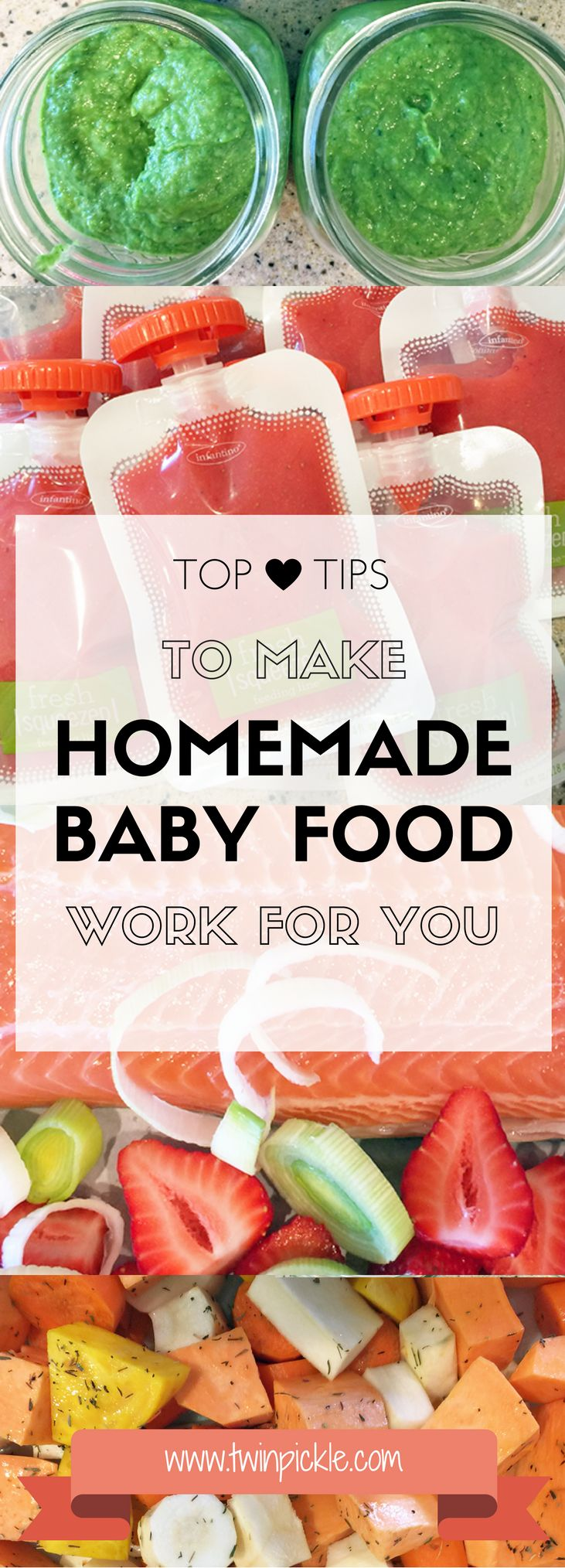 We all dream of giving Baby the perfect diet, but sometimes it's hard to keep on top of it all. Tips to keep it simple, understand your limits and find what works FOR YOU! #parenting #babies #babyfood #homemade #puree #healthy
