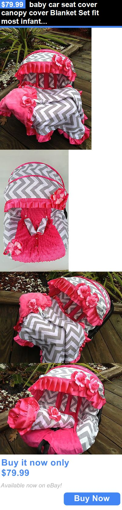 Baby: Baby Car Seat Cover Canopy Cover Blanket Set Fit Most Infant Seat H-Pink BUY IT NOW ONLY: $79.99