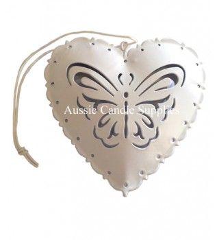 Papillion Heart White $1.50