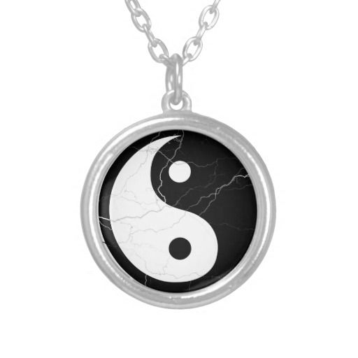 Black and White Yin and Yang Custom Necklace