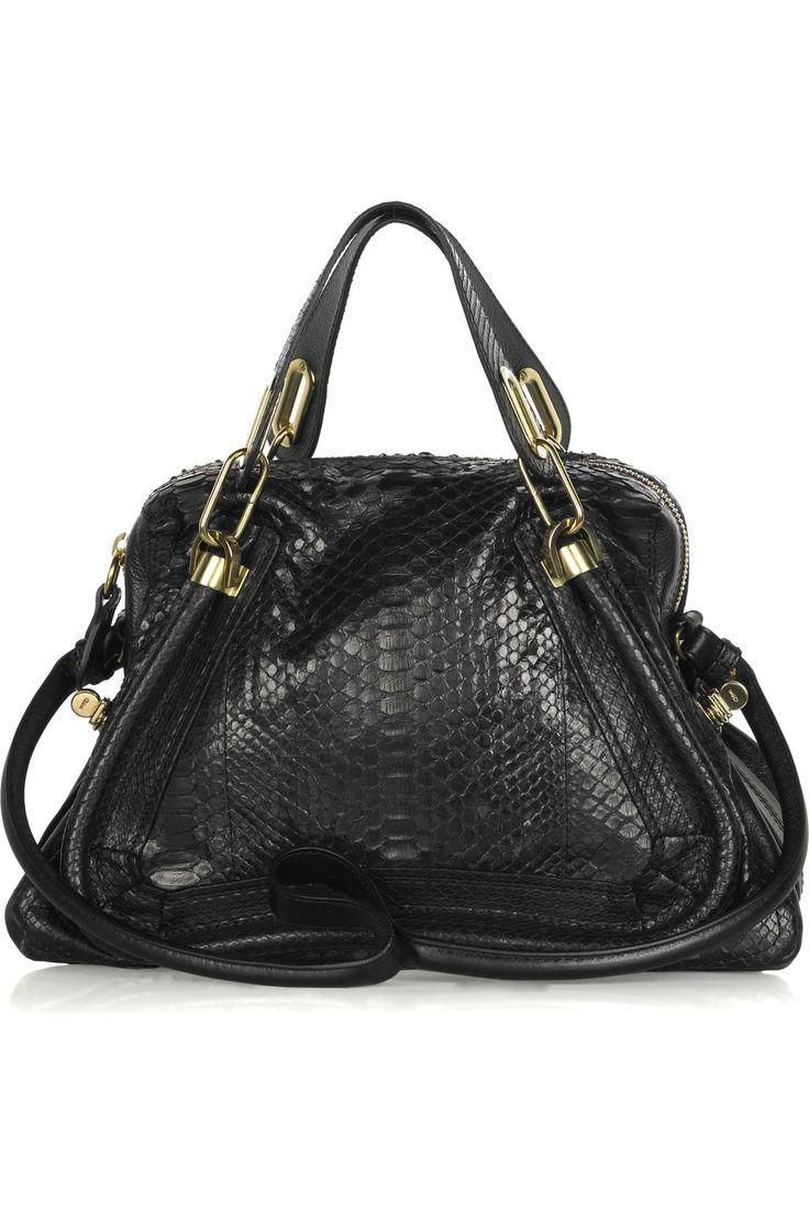 Paraty Medium python and leather bag  by Chloe #Handbag #Chloe