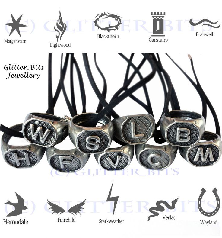 MORTAL INSTRUMENTS FAMILY RING NECKLACES MORGENSTERN HERONDALE LIGHTWOOD WAYLAND in Jewellery & Watches, Costume Jewellery, Necklaces & Pendants | eBay