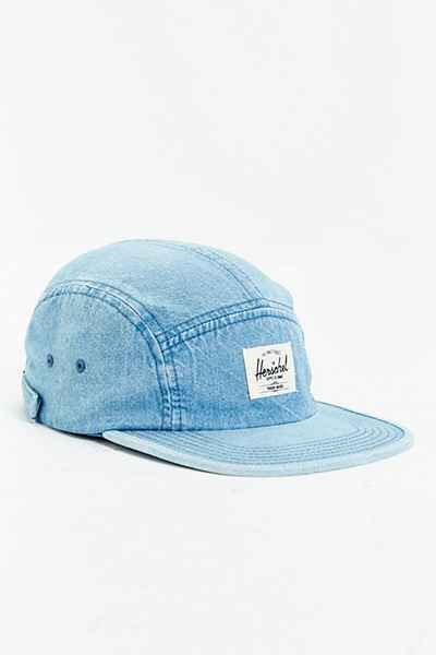 Herschel Supply Co. Glendale Faded Denim 5-Panel Baseball Hat - Urban Outfitters