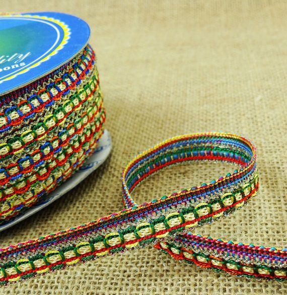 Designer kleding Decor metaalkleurige draad Trim Indiase metalen vlecht levering Kanta kant Trim Crafting 12,7 Mm breed naaien door 18 werven BRD105P