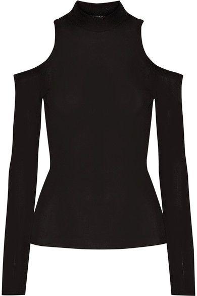 Balmain - Cutout Stretch-jersey Top - Black - FR36