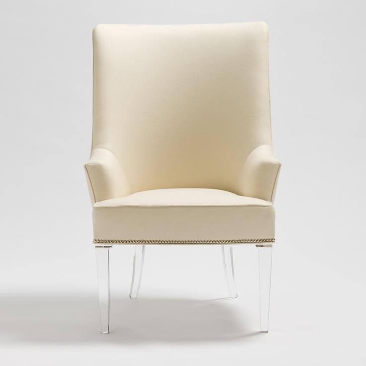 Palm Beach Host Tufted Chair By Allan Knight