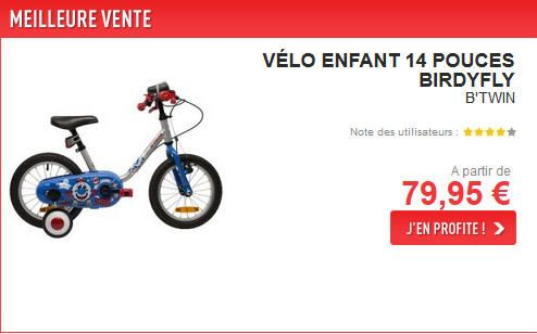 Vélo Enfant pas cher Decathlon à partir de 35.95 € sur Décathlon.fr