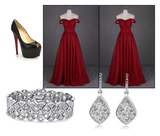 """Prom."" by mandy-martin-1 on Polyvore featuring Christian Louboutin, Palm Beach Jewelry, women's clothing, women's fashion, women, female, woman, misses and juniors"