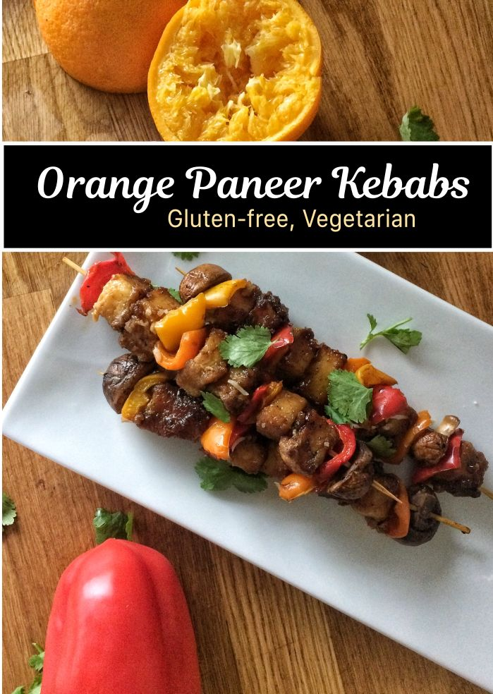 Why I Love Paneer + Orange Paneer Kebabs. These Orange Paneer Kebabs are a gluten-free, vegetarian twist on the classic Orange Beef. They make a great appetizer or entrée thanks to their creamy star ingredient.
