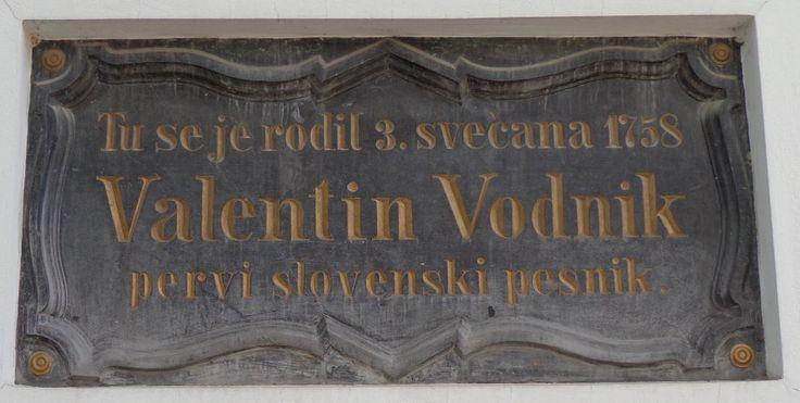 Commemorative plaque at Valentin Vodnik's birth house in Ljubljana. #ValentinVodnik #Ljubljana #Slovenia #SloveniaHistory #SloveniaCulture #visitSlovenia #Culture #poet